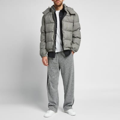 Versace Check Print Down Jacket