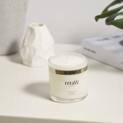 retaW Glass Fragrance Candle