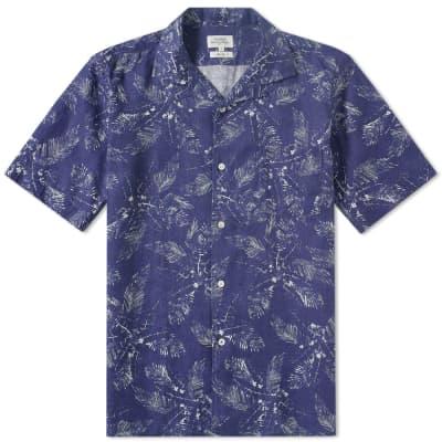 Hartford Slam Palm Linen Shirt