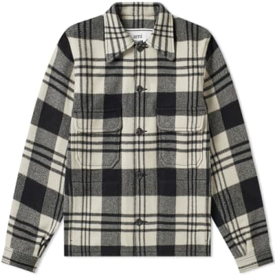 AMI Heavy Check Overshirt