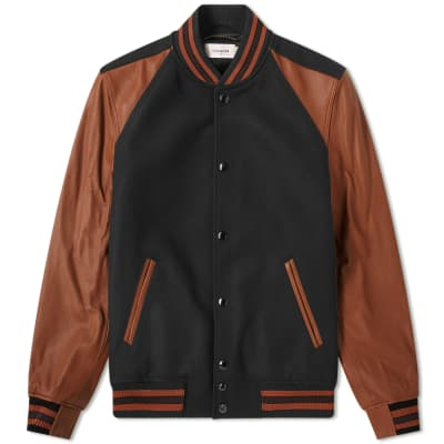 Coach Wool & Leather Varsity Jacket