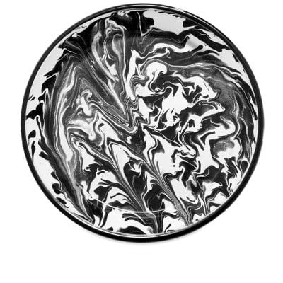 BORNN Enamelware Classic Marble Large Plate