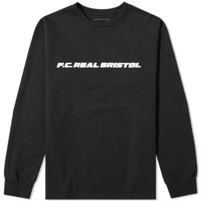 F.C. Real Bristol Long Sleeve Multi Logo Tee