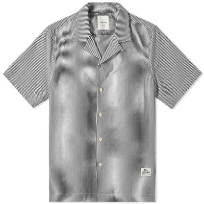 Wood Wood Short Sleeve Brandon Seersucker Stripe Vacation Shirt