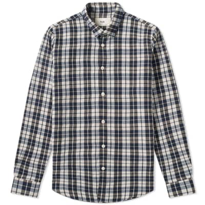 Folk Checked Flannel Shirt
