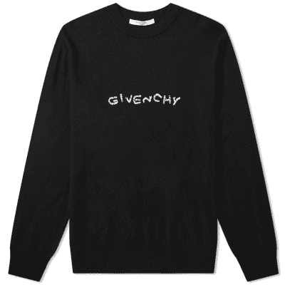 Givenchy Embroidered Logo Crew Knit