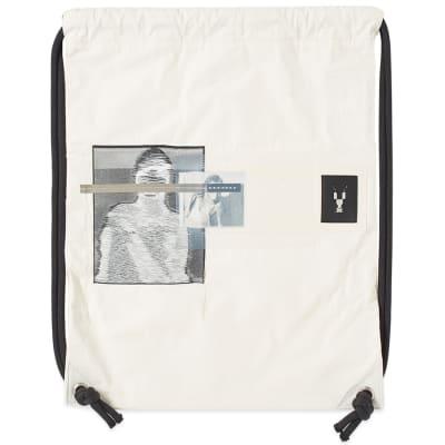 Rick Owens DRKSHDW Drawstring Patched Gym Bag