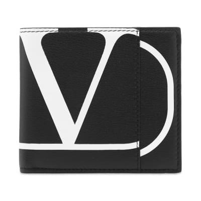 Valentino Go Logo Billfold Leather Wallet