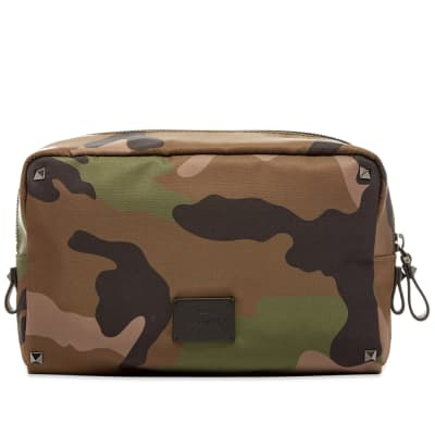 Valentino Jacquard Camo Medium Wash Bag