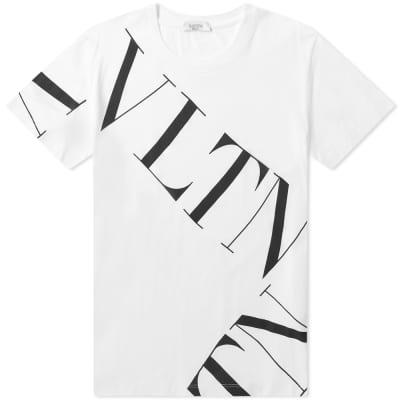 Valentino Large Grid Logo Tee