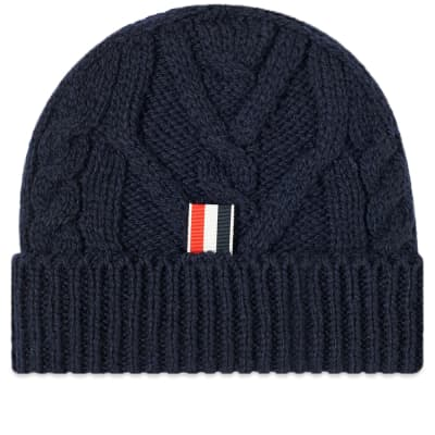 newest collection 2c0dd 45913 Thom Browne Aran Cable Donegal Knit Hat