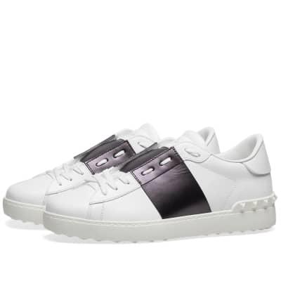 Valentino Metallic Open Low Top Sneaker