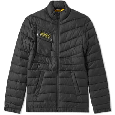 Barbour International Chain Baffle Quilt Jacket