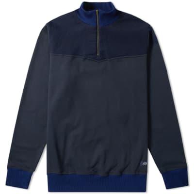 Bleu de Paname Half Zip Sweat