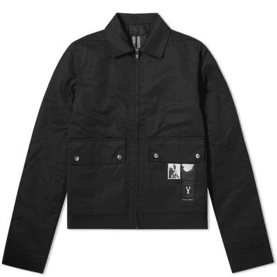 Rick Owens DRKSHDW Patch Print Zip Jacket