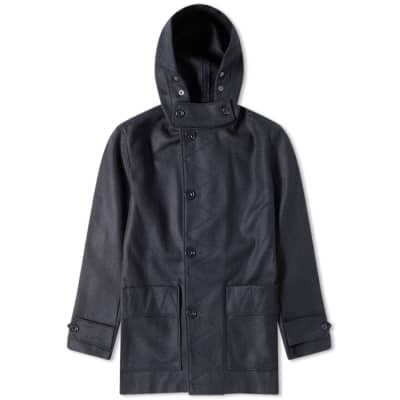 Arpenteur Wool Melton Kabig Coat