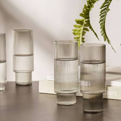 Ferm Living Ripple Long Drink Glass - Set of 4