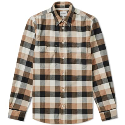 Norse Projects Villads Brushed Flannel Check Shirt
