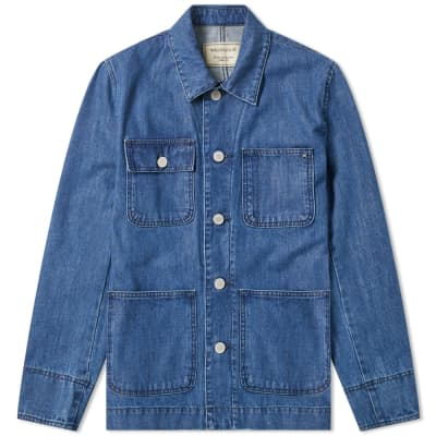 Maison Kitsuné Denim Worker Jacket