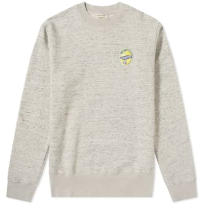 Maison Kitsuné Limone Patch Crew Sweat