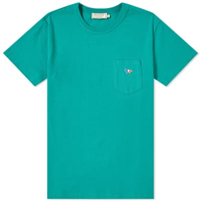 Maison Kitsuné Tricolour Fox Patch Pocket Tee