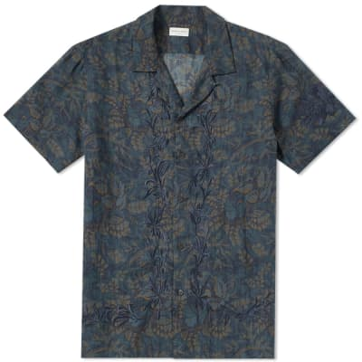 Dries Van Noten Short Sleeve Embroidered Vacation Shirt