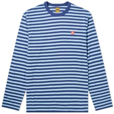 Human Made Long Sleeve Stripe Heart Logo Tee