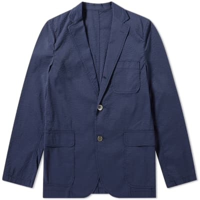Beams Plus 3 Button Seersucker Blazer