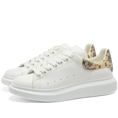 Alexander McQueen Snakeskin Heel Tab Wedge Sole Sneaker
