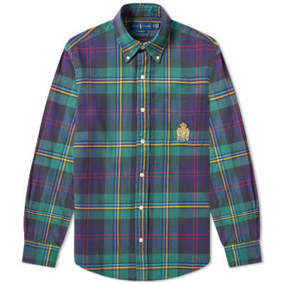 Polo Ralph Lauren Crest Embroidered Button Down Check Shirt