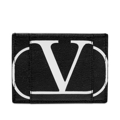 Valentino Go Logo Leather Card Holder
