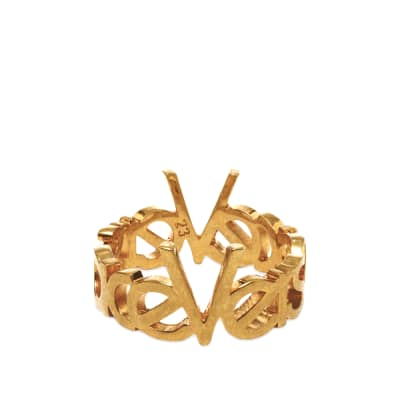 Versace 90s Logo Ring