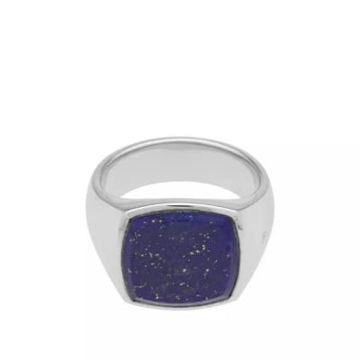 Tom Wood Cushion Blue Lapis Lazuli Ring