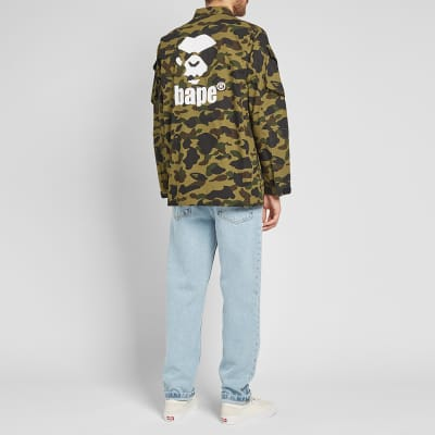 A Bathing Ape 1st Camo Tactical Military Shirt