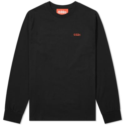 032c Long Sleeve Classic Embroidered Logo Tee