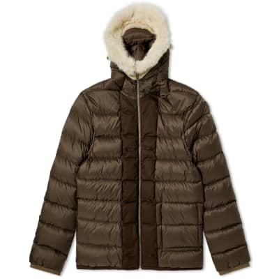 Ten C Shearling Hooded Down Liner