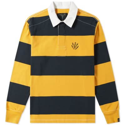 Rag & Bone Long Sleeve Striped Rugby Shirt
