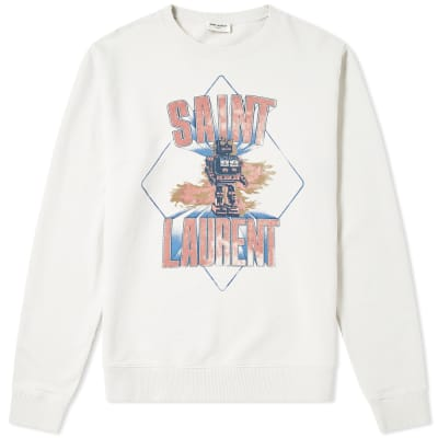 Saint Laurent Damaged Robot Crew Sweat