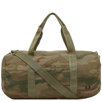 Fred Perry Camo Barrell Bag