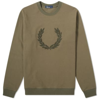 Fred Perry Laurel Wreath Applique Sweat