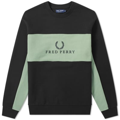 Fred Perry Panel Piped Sweat