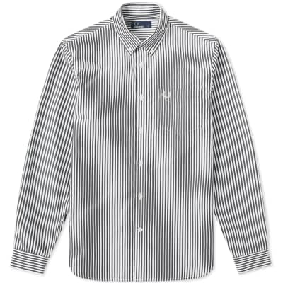 Fred Perry Vertical Stripe Button Down Oxford Shirt