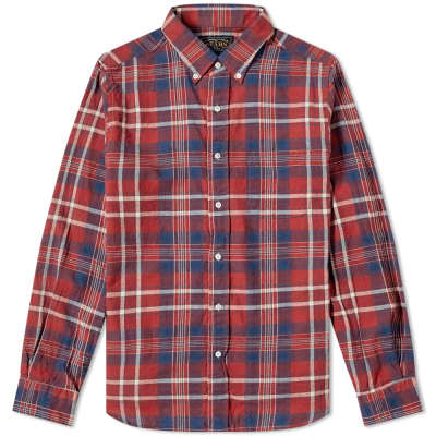 Beams Plus Button Down Indian Madras Shirt