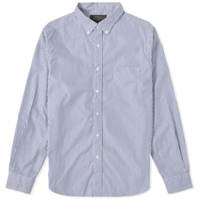 Beams Plus London Stripe Button Down Shirt