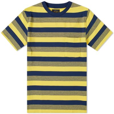 Beams Plus Gradation Stripe Pocket Tee
