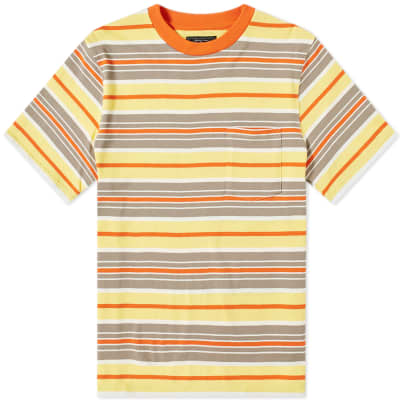 Beams Plus Multi Stripe Pocket Tee