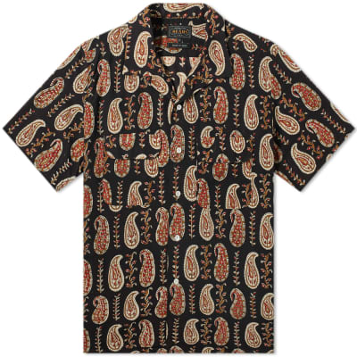 Beams Plus Short Sleeve Open Colllar Batik Print