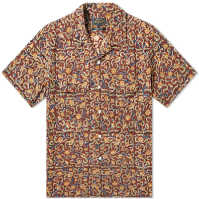 Beams Plus Short Sleeve Open Collar Batik Print