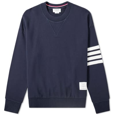 Thom Browne Oversized Arm Bar Crew Sweat