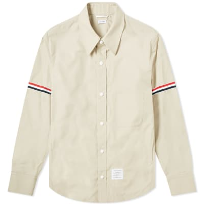 Thom Browne Snap Front Shirt Jacket